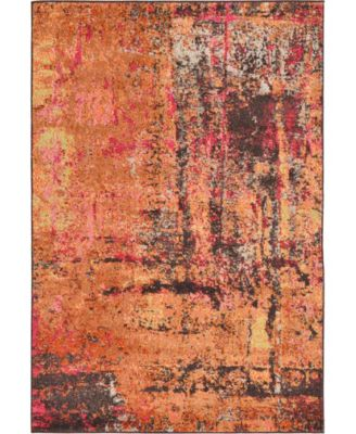 Newwolf New3 Orange 4' x 6' Area Rug