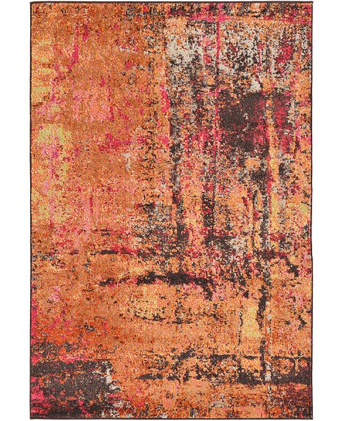 Bridgeport Home Newwolf New3 Orange Area Rug Collection