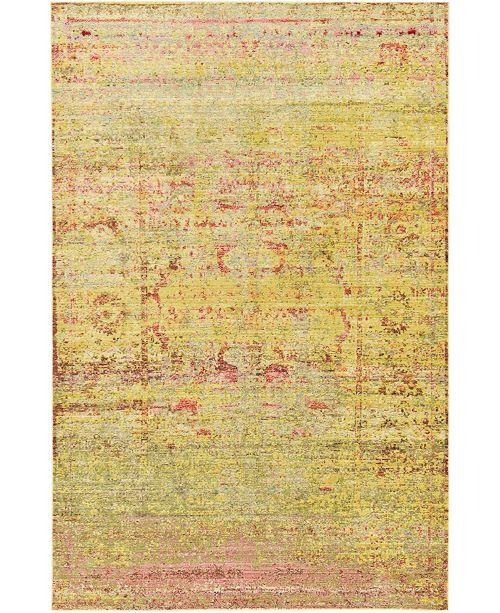 Bridgeport Home Malin Mal8 Yellow 5' x 8' Area Rug
