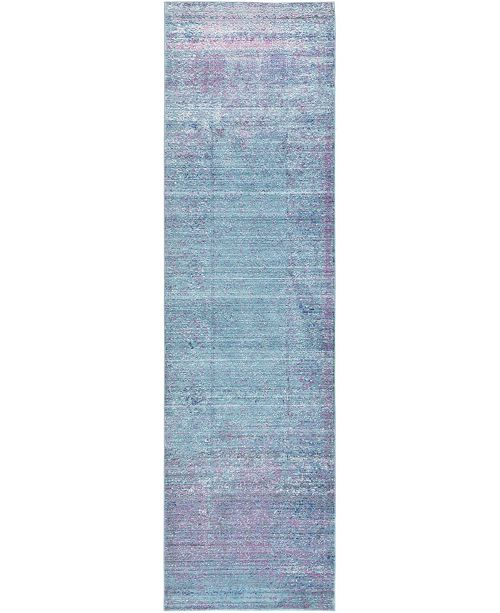 "Bridgeport Home Malin Mal8 Light Blue 2' 7"" x 9' 10"" Runner Area Rug"