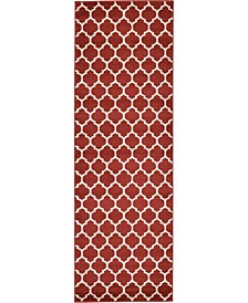 "Arbor Arb1 Red 2' 7"" x 8' Runner Area Rug"