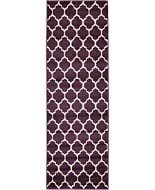 Arbor Arb1 Purple 2' x 6' Runner Area Rug