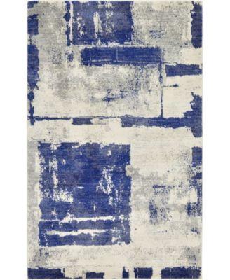 Wisdom Wis4 Navy Blue 5' x 8' Area Rug