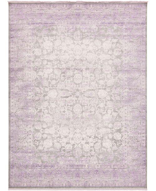 Bridgeport Home Norston Nor3 Purple 10' x 13' Area Rug