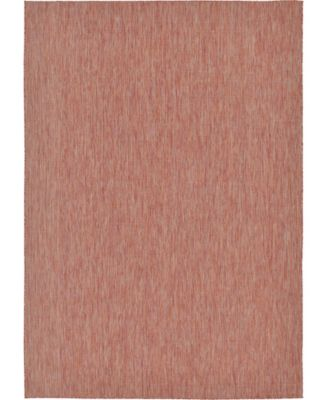 "Pashio Pas6 Rust Red 8' x 11' 4"" Area Rug"