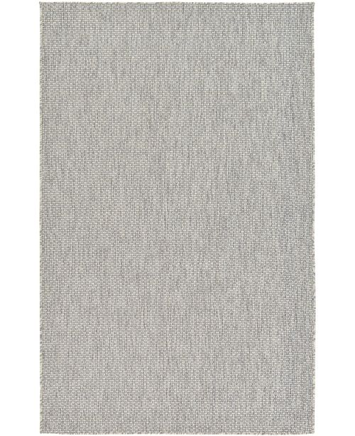 Bridgeport Home Pashio Pas6 Light Gray 5' x 8' Area Rug