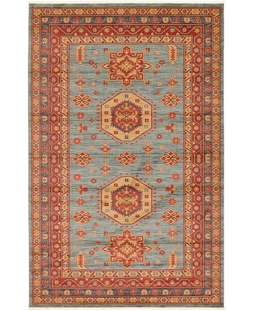 "Bridgeport Home Harik Har1 Light Blue 10' 6"" x 16' 5"" Area Rug"