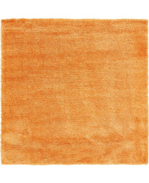 Bridgeport Home Jiya Jiy1 Orange 8' x 8' Square Area Rug