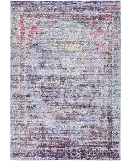 Bridgeport Home Malin Mal1 Violet 6' x 9' Area Rug