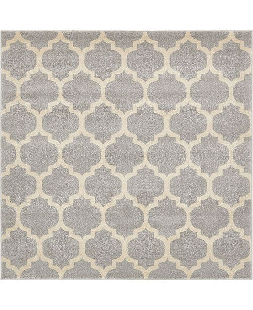 Bridgeport Home Arbor Arb1 Light Gray 6' x 6' Square Area Rug