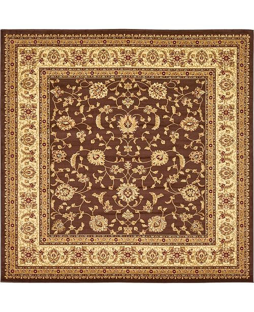 Bridgeport Home Passage Psg4 Brown 10' x 10' Square Area Rug
