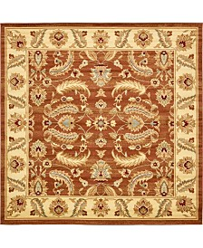 Bridgeport Home Passage Psg1 Brick Red 10' x 10' Square Area Rug