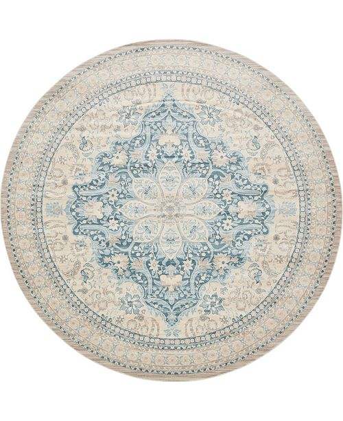 Bridgeport Home Caan Can1 Beige 8' x 8' Round Area Rug