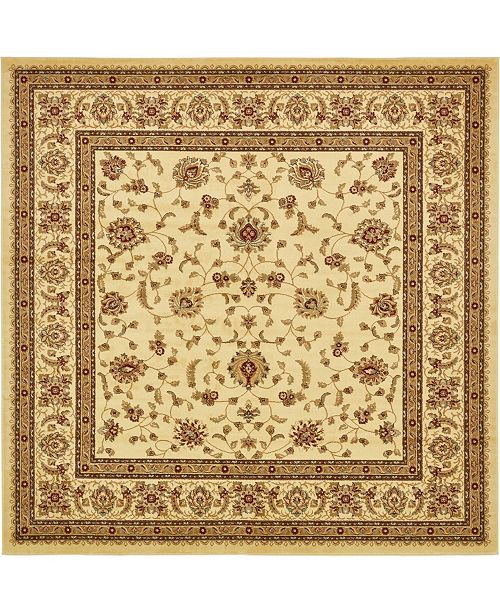 Bridgeport Home Passage Psg4 Ivory 10' x 10' Square Area Rug