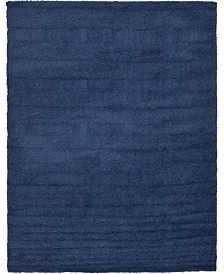 Bridgeport Home Exact Shag Exs1 Navy Blue 9' x 12' Area Rug