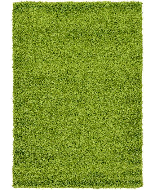 Bridgeport Home Exact Shag Exs1 Grass Green 4' x 6' Area Rug