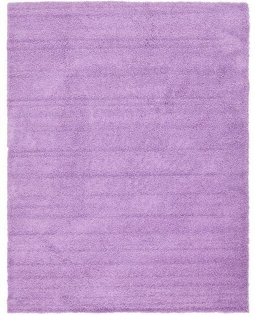 Bridgeport Home Exact Shag Exs1 Lilac 10' x 13' Area Rug