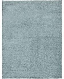 Bridgeport Home Exact Shag Exs1 Light Slate Blue 9' x 12' Area Rug
