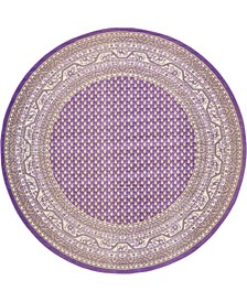 Axbridge Axb1 Violet 8' x 8' Round Area Rug