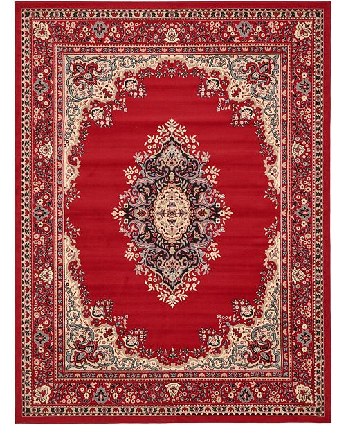 Bridgeport Home Birsu Bir1 Red 9' x 12' Area Rug