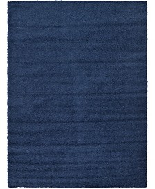 Bridgeport Home Exact Shag Exs1 Navy Blue 8' x 11' Area Rug