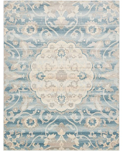 Bridgeport Home Caan Can8 Blue 8' x 10' Area Rug
