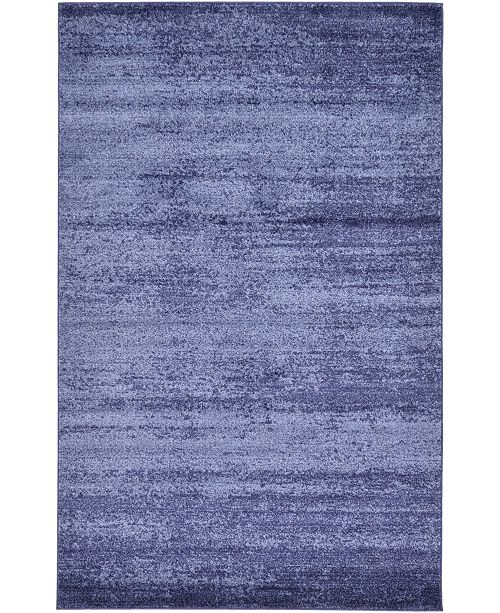 Bridgeport Home Lyon Lyo3 Navy Blue 5' x 8' Area Rug