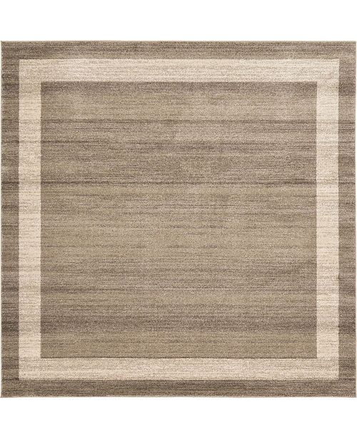 Bridgeport Home Lyon Lyo5 Light Brown 8' x 8' Square Area Rug