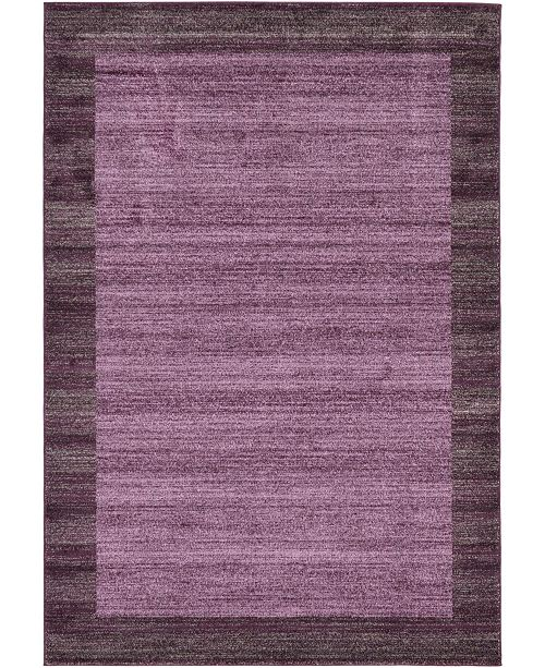 Bridgeport Home Lyon Lyo4 Violet 6' x 9' Area Rug