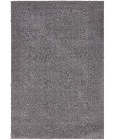 Bridgeport Home Salon Solid Shag Sss1 Dark Gray 4' x 6' Area Rug
