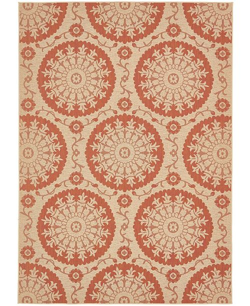 "Bridgeport Home Pashio Pas5 Terracotta 8' x 11' 4"" Area Rug"