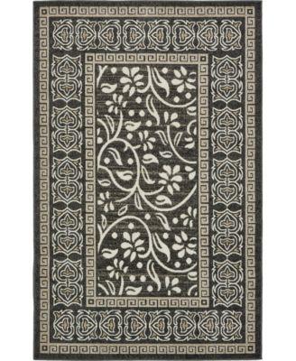 Pashio Pas3 Black 5' x 8' Area Rug