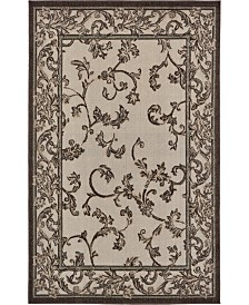Bridgeport Home Pashio Pas4 Beige/Black 5' x 8' Area Rug