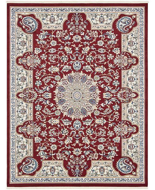 Bridgeport Home Zara Zar5 Burgundy 8' x 10' Area Rug
