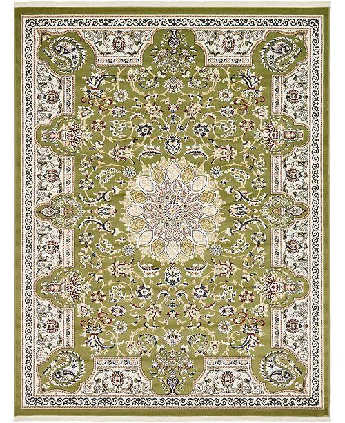 Bridgeport Home Zara Zar5 Green 8' x 10' Area Rug