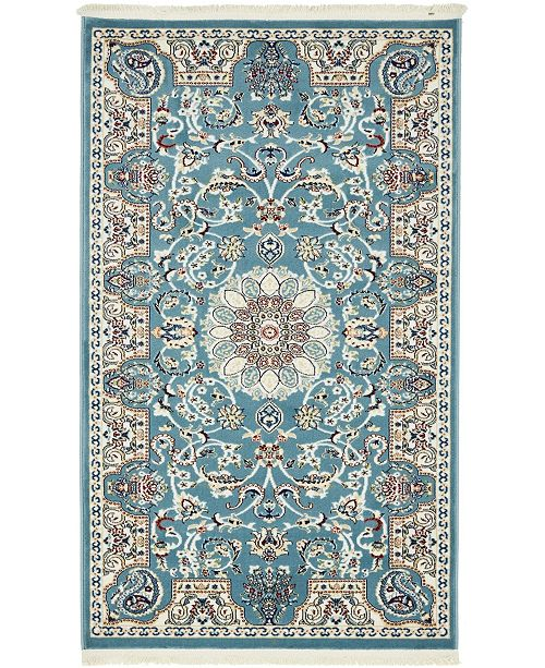 Bridgeport Home Zara Zar5 Blue 3' x 5' Area Rug