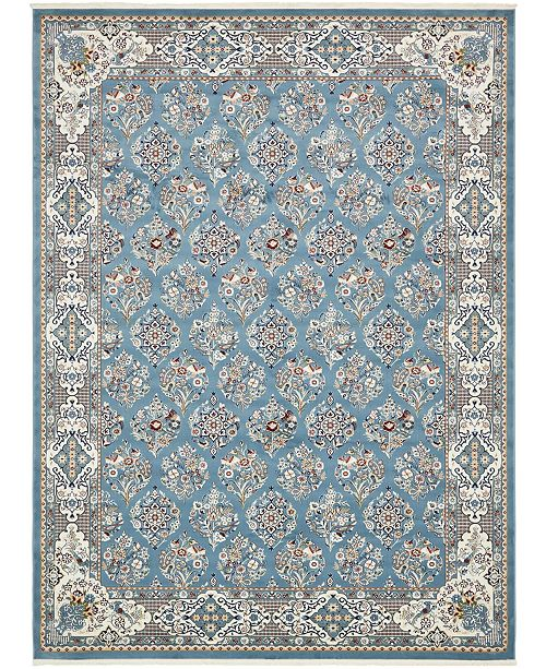 Bridgeport Home Zara Zar6 Blue 10' x 13' Area Rug
