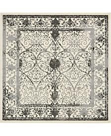 Aldrose Ald6 Gray 6' x 6' Square Area Rug
