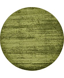 Lyon Lyo3 Green 8' x 8' Round Area Rug