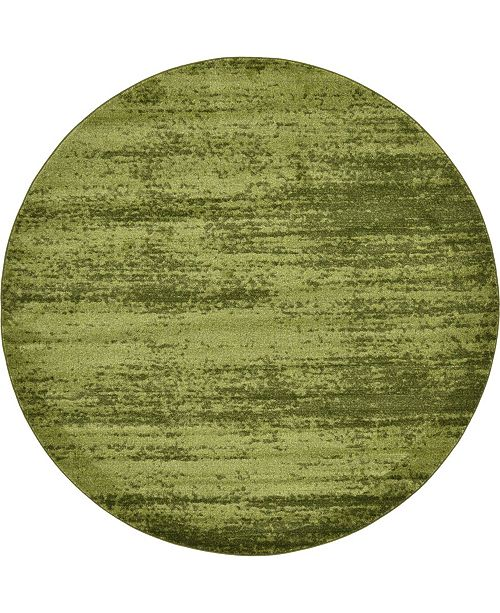 Bridgeport Home Lyon Lyo3 Green 8' x 8' Round Area Rug
