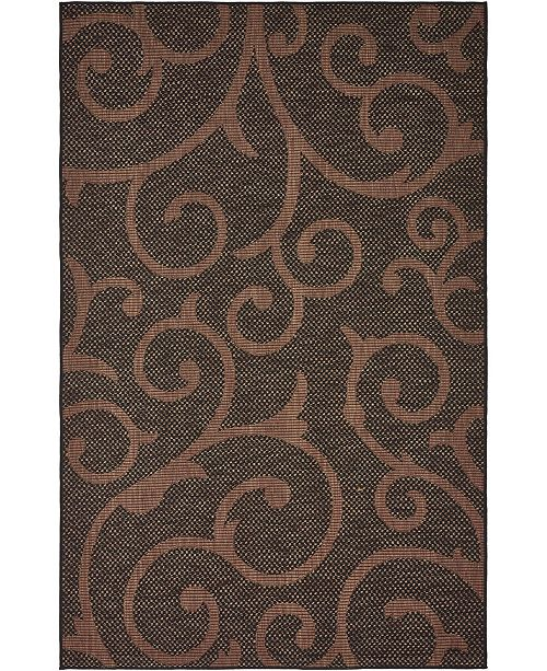 Bridgeport Home Pashio Pas7 Chocolate Brown 5' x 8' Area Rug