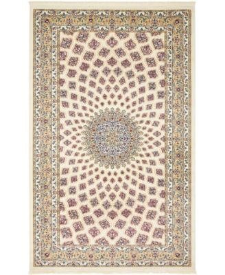 Zara Zar1 Ivory 5' x 8' Area Rug