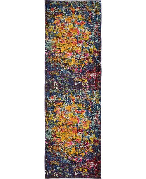 "Bridgeport Home Newwolf New4 Multi 2' 2"" x 6' 7"" Runner Area Rug"