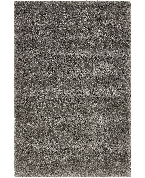 "Bridgeport Home Uno Uno1 Gray 2' 2"" x 3' Area Rug"