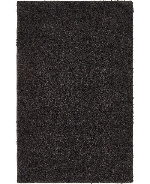 "Bridgeport Home Uno Uno1 Charcoal 3' 3"" x 5' 3"" Area Rug"