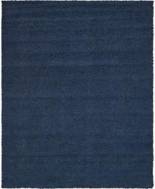 Bridgeport Home Exact Shag Exs1 Navy Blue 8' x 10' Area Rug