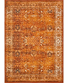 "Linport Lin1 Terracotta/Ivory 8' x 11' 6"" Area Rug"