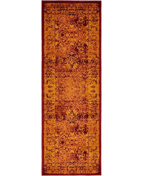 Bridgeport Home Linport Lin1 Burgundy 2' x 6' Runner Area Rug