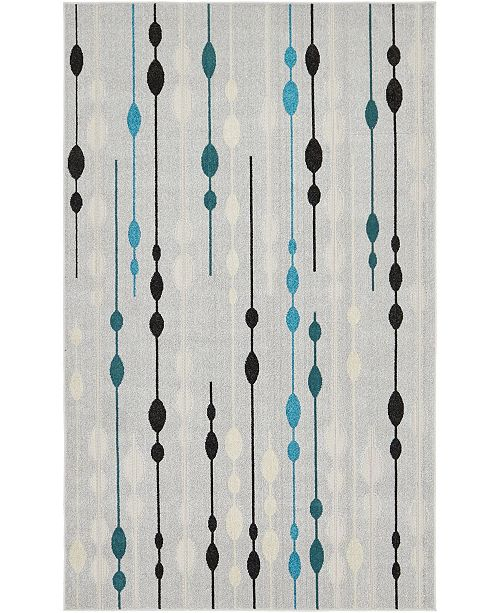 Bridgeport Home Pashio Pas3 Gray 5' x 8' Area Rug