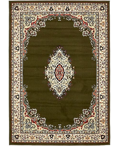 Bridgeport Home Birsu Bir1 Green 4' x 6' Area Rug